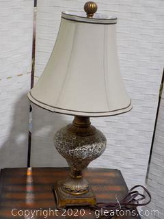 Mosaic Glass Lamp with Shade