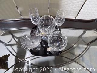 Mikasa Drinkware with Tray