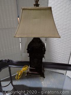 Ornate Table Lamp with Shade
