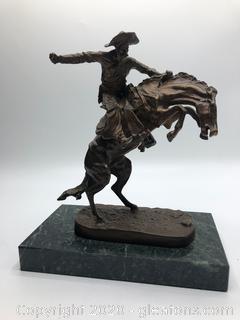 Antique Frederic Remington Bronze Statue