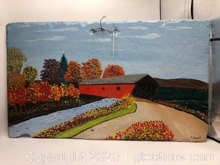 D Gault original Painting on Slate
