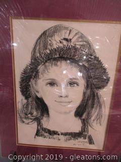 Signed Pencil Portrait