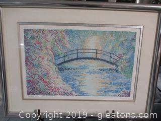 "Signed Reproduction of ""Monet's Bridge"""