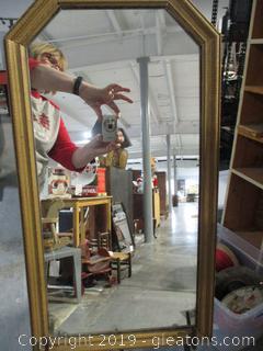 Vintage Mirror Wood Frame