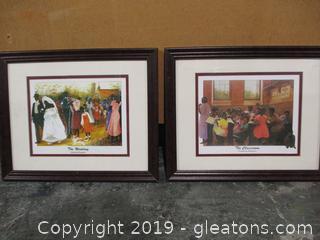 Pair of Framed Fredrick Douglass Prints