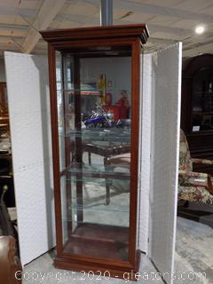 Pulaski Furniture Mirror Curio Cabinet with 4 Glass Shelves