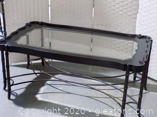 Very Unique Glass Top Coffee Table