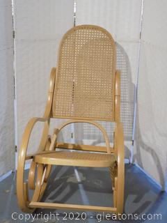 Vintage Luigi C.Rassevig Bent Wood Rocking Chair