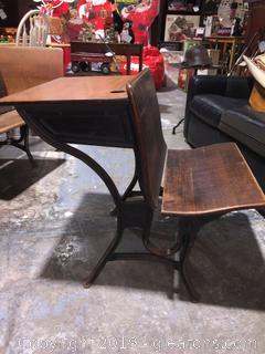 A.S. Company & 2 Antique School Desk