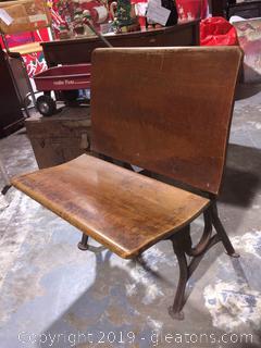 Antique School Seat