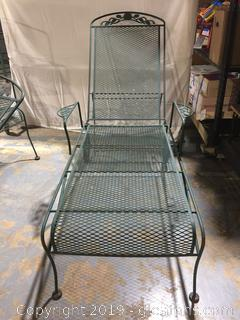 Wrought Iron Lounger
