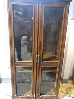 2 Door Glass Front Media Cabinet