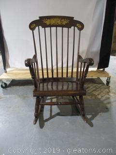 Vintage Spindle Back Rocking Chair Hitchcock Like