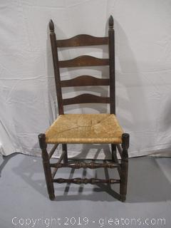 Ladder Back Chair with Cane Bottom