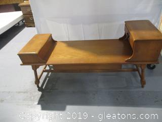 Vintage Colonial Revival Coffee Table - All Wood