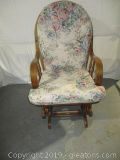 Vintage Glider Rocker with Cushions