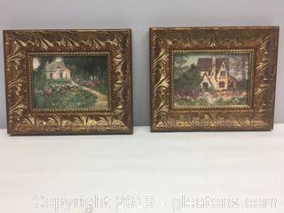 Pair Decorative Wall Art COUNTRY GARDENS