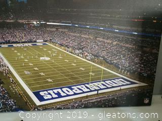 Indianapolis Colts Stadium Football Wall Art