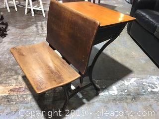 A.S. Co 2 Antique School Desk