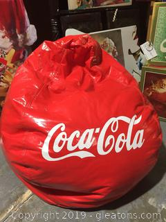 Authentic Coca Cola Bean Bag in Excellent Collector's Condition