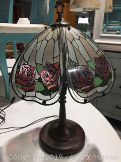 Metal Stained Glass Lamp