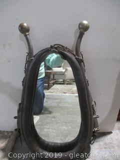 Mirror Made From Antique Horse Plow Harness