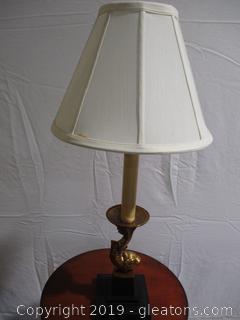 Koi & Candlestick Table Lamp