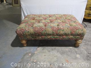 Large Upholstered Tufted Ottoman