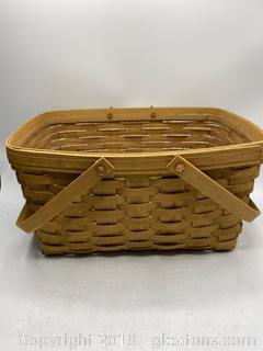 Longaberger Basket with Plastic Liner - A