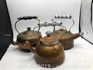 Copper Tea Kettle Lot (B)