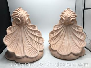 Pair of Terra Cotta Wall Sconces