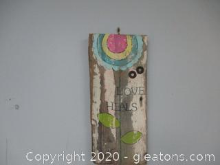 Wooden Art - Love Heals