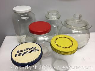 Glass Jars Lot