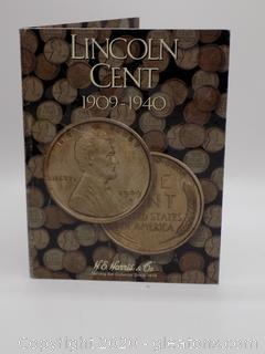 Lincoln Cent 1909-1940 Coin Collection