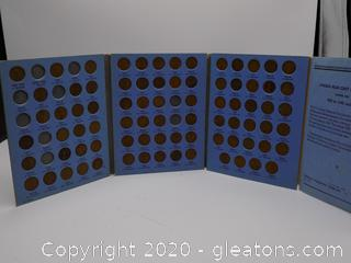 Lincoln Head Cent Collection 1909 to 1940 Number One