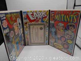 Cable Comic Collection Signed by: Art Thibet and Dan Panoslian