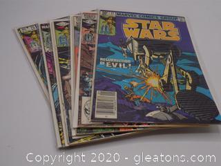 6 Marvel Comics Group Star Wars Comic Books Lot D