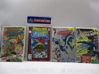 4 Marvel Spider Man Comic Books