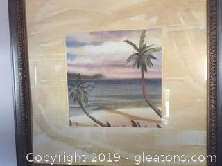 Palm Trees and Island Art