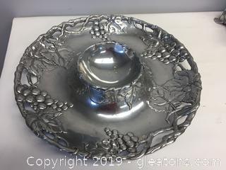 Arthur Court Serving Platter Grape Pattern