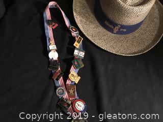 Atlanta Olympic pins and hat