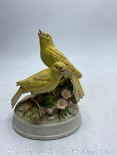 "Rare Gorham ""2 Canaries"" Music Box Figurine"