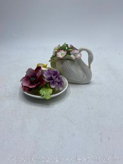 Hand Painted Fine Bone China Flowers Lot B