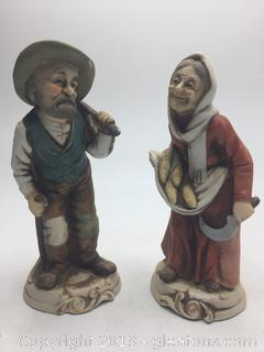 Old lady and Man (Pair)