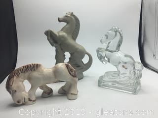 Lot of Porcelain Horses B