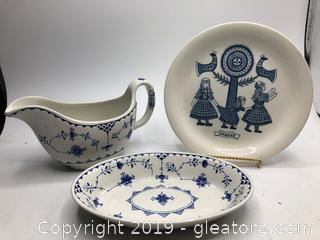 Made in Denmark Blue and White China