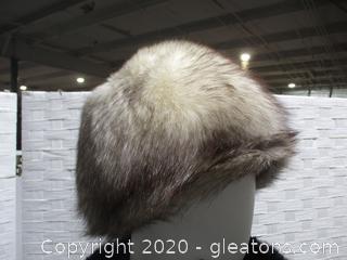 Ladies Vintage Fox Pillbox Hat