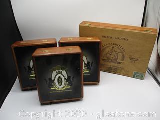 4 Cigar Boxes