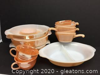 Lot of Fire King Dish Cook Sets