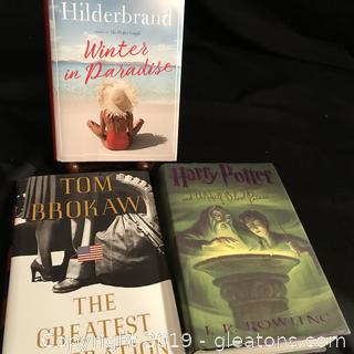 3 books Harry Potter Tom Brooks, Elon Hilderbrand